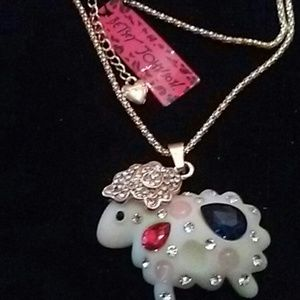 Betsy Johnson Sheep Necklace